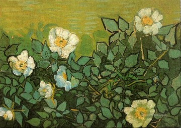 Wild Roses Vincent van Gogh Impressionism Flowers Oil Paintings