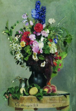 a bouquet of flowers 1878 Ilya Repin Oil Paintings