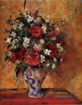 vase of flowers Camille Pissarro Oil Paintings