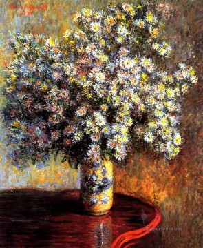 Impressionism Flowers Painting - Asters Claude Monet Impressionism Flowers