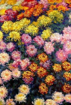 Impressionism Flowers Painting - Bed of Chrysanthemums Claude Monet Impressionism Flowers