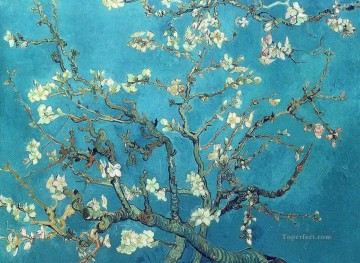 Branch Painting - Branches with Almond Blossom Vincent van Gogh Impressionism Flowers