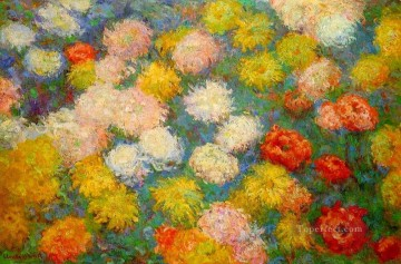 Chrysanthemums Claude Monet Impressionism Flowers Oil Paintings