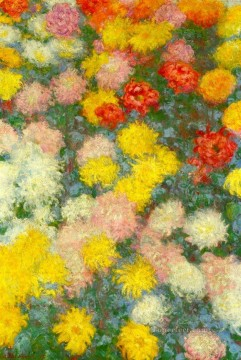 Chrysanthemums III Claude Monet Impressionism Flowers Oil Paintings