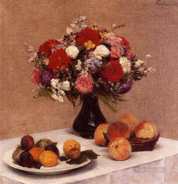 Fruit Painting - Flowers and Fruit Henri Fantin Latour