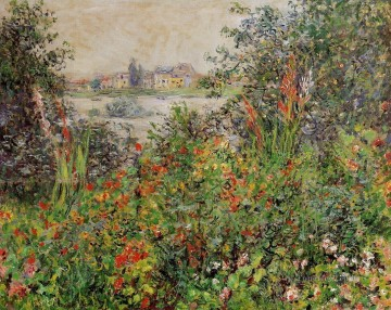 Impressionism Flowers Painting - Flowers at Vetheuil Claude Monet Impressionism Flowers