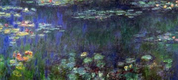 left Canvas - Green Reflection left half Claude Monet Impressionism Flowers