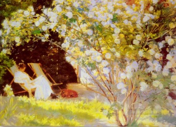 P S Les Roses Peder Severin Kroyer Impressionism Flowers Oil Paintings