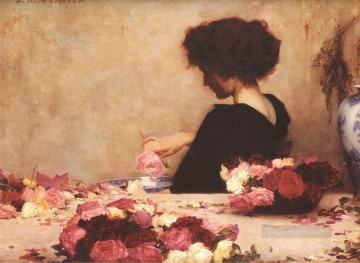 Rape Art - Pot Pourri Herbert James Draper Impressionism Flowers