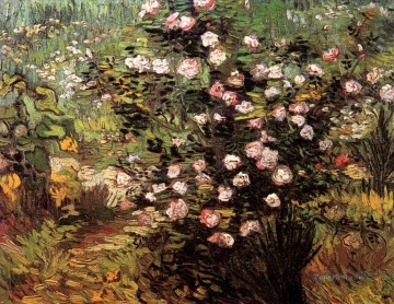 Rosebush in Blossom Vincent van Gogh Impressionism Flowers Oil Paintings