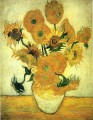 Still Life Vase with Fourteen Sunflowers Vincent van Gogh Impressionism Flowers