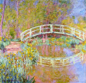 Impressionism Flowers Painting - The Bridge in Monet s Garden Claude Monet Impressionism Flowers