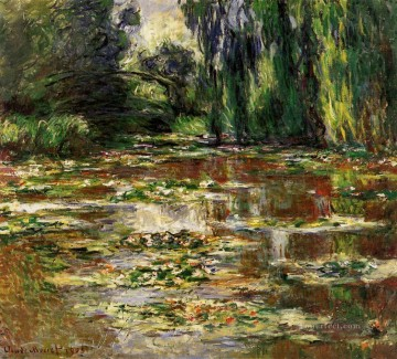monet water lily lilies waterlily waterlilies Painting - The Bridge over the Water Lily Pond 1905 Claude Monet Impressionism Flowers