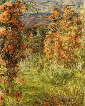 Impressionism Flowers Painting - The House among the Roses Claude Monet Impressionism Flowers