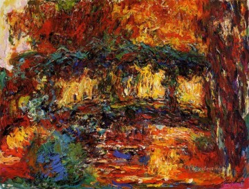 Flowers Painting - The Japanese Bridge II Claude Monet Impressionism Flowers