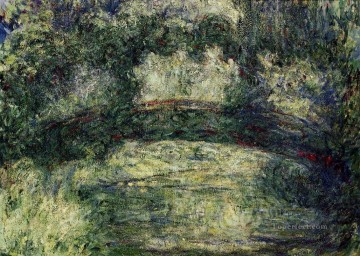 Impressionism Flowers Painting - The Japanese Bridge VIII Claude Monet Impressionism Flowers