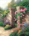 The Rose Garden Thomas Kinkade Impressionism Flowers