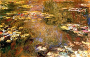 monet water lily lilies waterlily waterlilies Painting - The Water Lily Pond Claude Monet Impressionism Flowers