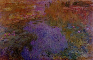 Impressionism Flowers Painting - The Water Lily Pond III Claude Monet Impressionism Flowers