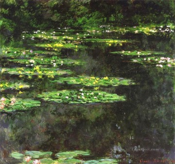 Water Lilies 1904 Claude Monet Impressionism Flowers Oil Paintings