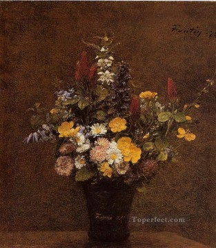 Latour Canvas - Wildflowers flower painter Henri Fantin Latour