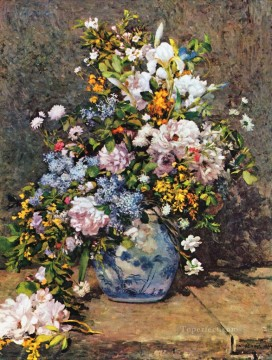 renoir Art - bouquet of spring flowers Pierre Auguste Renoir
