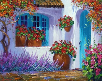 floral splendor Impressionism Flowers Oil Paintings