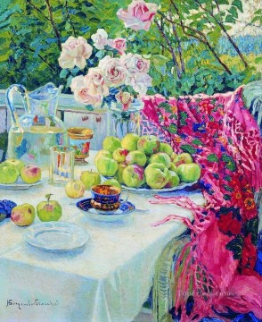 still life 1 Nikolay Bogdanov Belsky flowers impressionism Oil Paintings