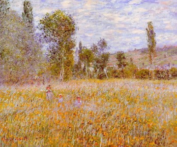 Impressionism Flowers Painting - A Meadow Claude Monet Impressionism Flowers