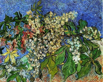 Blossoming Chestnut Branches Vincent van Gogh Impressionism Flowers Oil Paintings