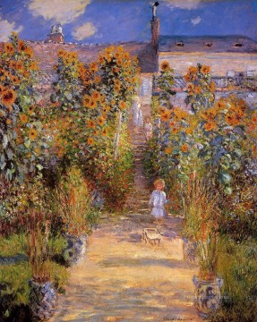 Monet s Garden at Vetheuil II Claude Monet Impressionism Flowers Oil Paintings