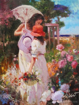 Pino Daeni 5 Impressionism Flowers Oil Paintings