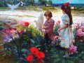 Pino Daeni Golden Days Impressionism Flowers