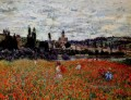 Poppies near Vetheuil Claude Monetcirca Impressionism Flowers