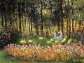 The Artist s Family in the Garden Claude Monet Impressionism Flowers