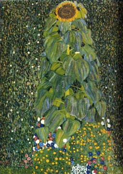 sunflower sunflowers Painting - The Sunflower Gustav Klimt Impressionism Flowers