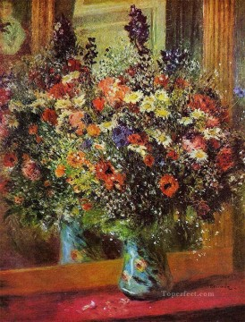 renoir Art - bouquet in front of a mirror flower Pierre Auguste Renoir