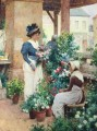 The Flower Shop Alfred Glendening JR women impressionism
