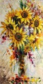 sunflowers in vase floral decoration