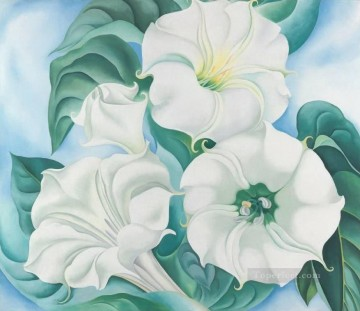 Jimson Weed Georgia Okeeffe floral decoration Oil Paintings