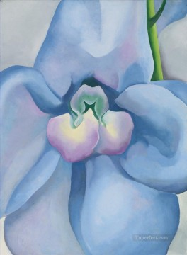 decoration decor group panels decorative Painting - THE BLUE FLOWER Georgia Okeeffe floral decoration