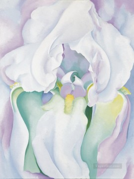 White Iris Georgia Okeeffe floral decoration Oil Paintings