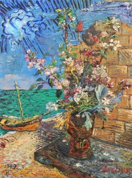 flowering near the sea 1949 modern decor flowers Oil Paintings