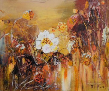 lotus 4 modern flowers Oil Paintings