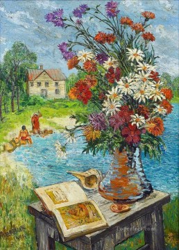 my idol long island 1944 modern decor flowers Oil Paintings
