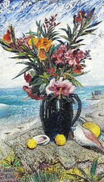 still life with flowers by the sea 1948 modern decor flowers Oil Paintings