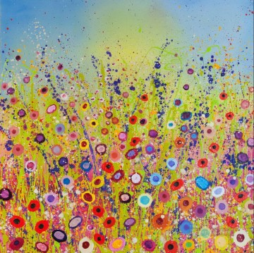 stipple flowers by knife 8 Oil Paintings