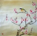 bird on plum blossom painting