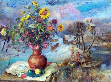 Artworks in 150 Subjects Painting - winter still life 1947 modern decor flowers