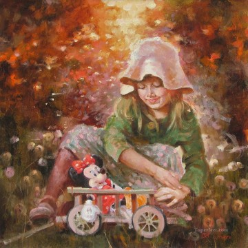 Lovely Girl IS 11 Disney Oil Paintings